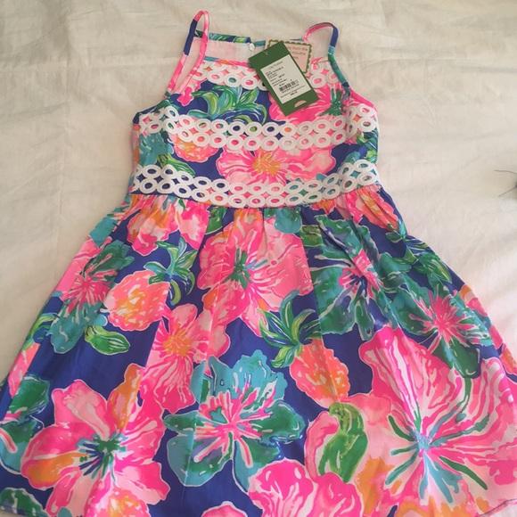 67007fa7f0d616 Lilly Pulitzer Dresses   Girls Nwt Elize Halter Dress Size 5   Poshmark